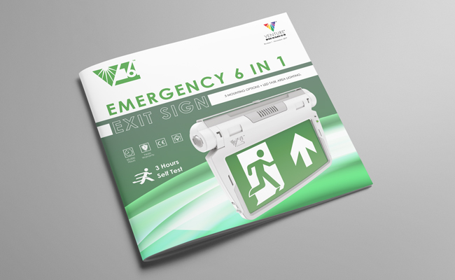 LED 6 in 1 Emergency Exit Sign